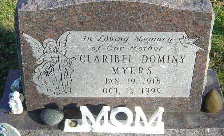 DOMINY MYERS, CLARIBEL - Franklin County, Ohio | CLARIBEL DOMINY MYERS - Ohio Gravestone Photos