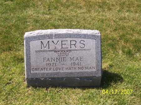 MYERS, FANNIE MAE - Franklin County, Ohio | FANNIE MAE MYERS - Ohio Gravestone Photos