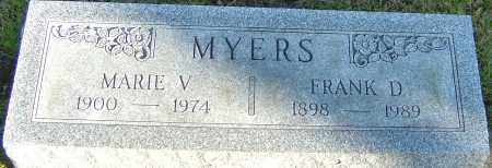 MYERS, FRANK D - Franklin County, Ohio | FRANK D MYERS - Ohio Gravestone Photos