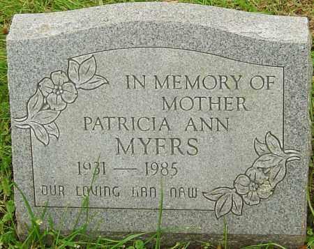 MYERS, PATRICIA - Franklin County, Ohio | PATRICIA MYERS - Ohio Gravestone Photos