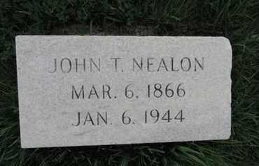NEALON, JOHN T - Franklin County, Ohio | JOHN T NEALON - Ohio Gravestone Photos