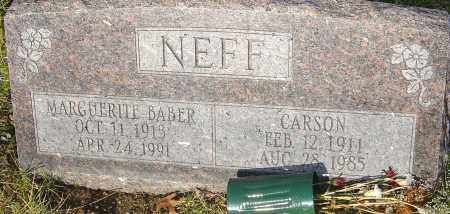 BABER NEFF, MARGUERITE - Franklin County, Ohio | MARGUERITE BABER NEFF - Ohio Gravestone Photos