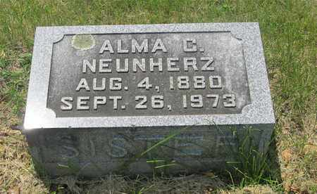 NEUNHERZ, ALMA C. - Franklin County, Ohio   ALMA C. NEUNHERZ - Ohio Gravestone Photos