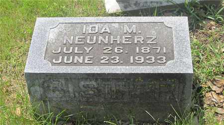 NEUNHERZ, IDA M. - Franklin County, Ohio   IDA M. NEUNHERZ - Ohio Gravestone Photos