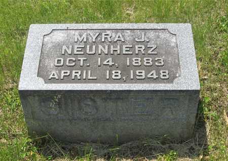 NEUNHERZ, MYRA J. - Franklin County, Ohio | MYRA J. NEUNHERZ - Ohio Gravestone Photos