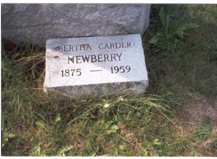 CARDER NEWBERRY, BERTHA - Franklin County, Ohio | BERTHA CARDER NEWBERRY - Ohio Gravestone Photos