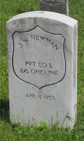 NEWMAN, J. W. - Franklin County, Ohio | J. W. NEWMAN - Ohio Gravestone Photos