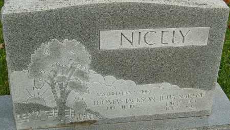 NICELY, JULIA - Franklin County, Ohio | JULIA NICELY - Ohio Gravestone Photos