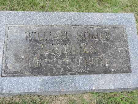 NICHOLS, WILLIAM HOMER - Franklin County, Ohio | WILLIAM HOMER NICHOLS - Ohio Gravestone Photos