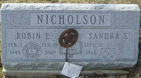NICHOLSON, ROBIN L - Franklin County, Ohio | ROBIN L NICHOLSON - Ohio Gravestone Photos
