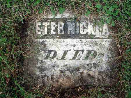 NICKLAS, PETER - Franklin County, Ohio | PETER NICKLAS - Ohio Gravestone Photos