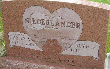 NIEDERLANDER, SHIRLEY - Franklin County, Ohio | SHIRLEY NIEDERLANDER - Ohio Gravestone Photos