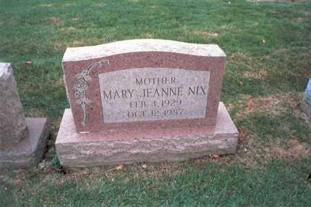 NIX, MARY JEANNE - Franklin County, Ohio   MARY JEANNE NIX - Ohio Gravestone Photos