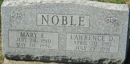 SAMUELS NOBLE, MARY E - Franklin County, Ohio | MARY E SAMUELS NOBLE - Ohio Gravestone Photos