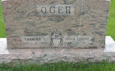 OGER, CHARLES A. - Franklin County, Ohio | CHARLES A. OGER - Ohio Gravestone Photos