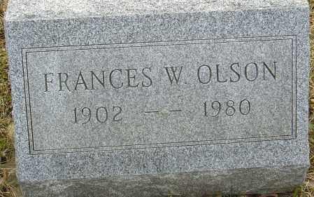 OLSON, FRANCES W - Franklin County, Ohio | FRANCES W OLSON - Ohio Gravestone Photos