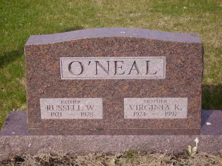 O'NEAL, RUSSELL W. - Franklin County, Ohio | RUSSELL W. O'NEAL - Ohio Gravestone Photos