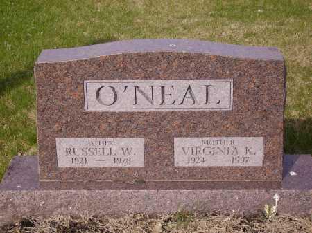 O'NEAL, VIRGINIA K. - Franklin County, Ohio | VIRGINIA K. O'NEAL - Ohio Gravestone Photos