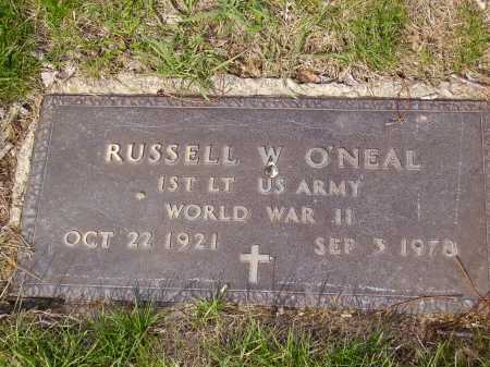 O'NEAL, RUSSELL W. - MILITARY - Franklin County, Ohio | RUSSELL W. - MILITARY O'NEAL - Ohio Gravestone Photos