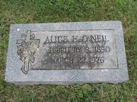 O'NEIL, ALICE H. - Franklin County, Ohio   ALICE H. O'NEIL - Ohio Gravestone Photos