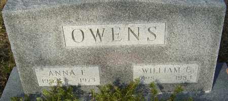 OWENS, WILLIAM E - Franklin County, Ohio   WILLIAM E OWENS - Ohio Gravestone Photos