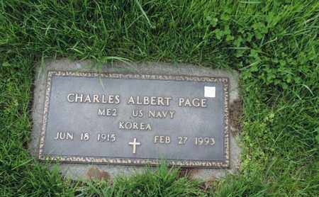PAGE, CHARLES ALBERT - Franklin County, Ohio | CHARLES ALBERT PAGE - Ohio Gravestone Photos