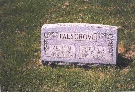 PALSGROVE, ESTELLA J. - Franklin County, Ohio | ESTELLA J. PALSGROVE - Ohio Gravestone Photos