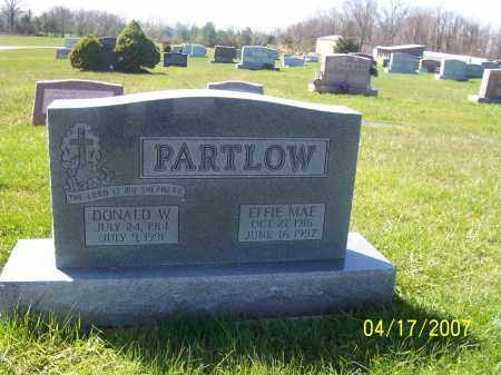 PARTLOW, DONALD W - Franklin County, Ohio | DONALD W PARTLOW - Ohio Gravestone Photos