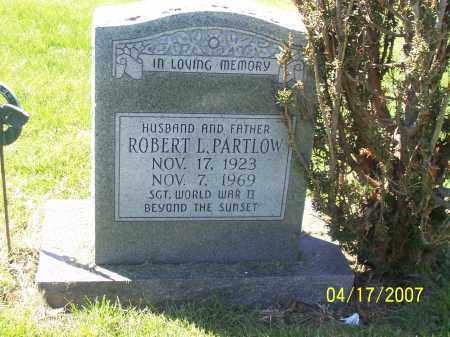 PARTLOW, ROBERT L - Franklin County, Ohio | ROBERT L PARTLOW - Ohio Gravestone Photos