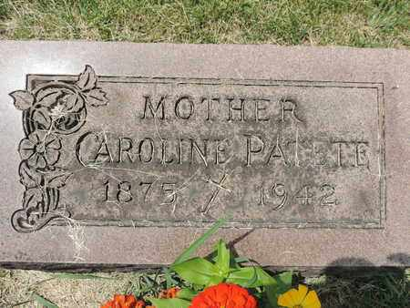 PATETE, CAROLINE - Franklin County, Ohio   CAROLINE PATETE - Ohio Gravestone Photos