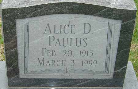 PAULUS, ALICE D - Franklin County, Ohio | ALICE D PAULUS - Ohio Gravestone Photos