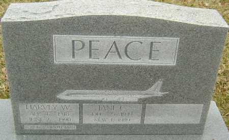 PEACE, HARVEY W - Franklin County, Ohio | HARVEY W PEACE - Ohio Gravestone Photos