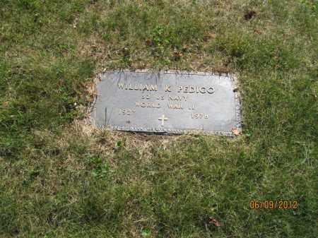 PEDIGO, WILLIAM K - Franklin County, Ohio | WILLIAM K PEDIGO - Ohio Gravestone Photos