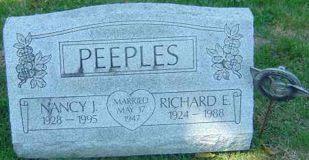 PEEPLES, NANCY J - Franklin County, Ohio | NANCY J PEEPLES - Ohio Gravestone Photos
