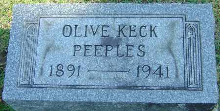 KECK PEEPLES, OLIVE - Franklin County, Ohio | OLIVE KECK PEEPLES - Ohio Gravestone Photos