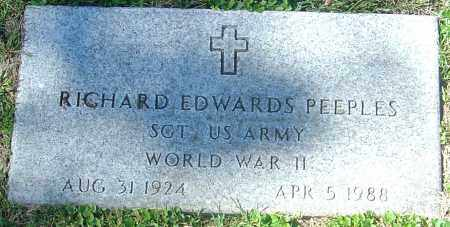 PEEPLES, RICHARD EDWARDS - Franklin County, Ohio   RICHARD EDWARDS PEEPLES - Ohio Gravestone Photos