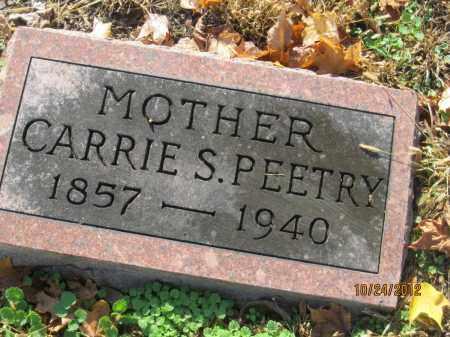 PEETRY, CARRIE S - Franklin County, Ohio | CARRIE S PEETRY - Ohio Gravestone Photos