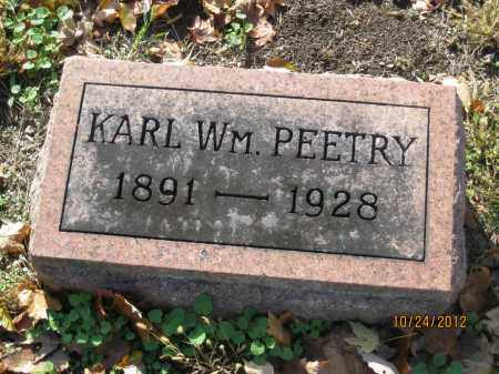 PEETRY, KARL WILLIAM - Franklin County, Ohio | KARL WILLIAM PEETRY - Ohio Gravestone Photos