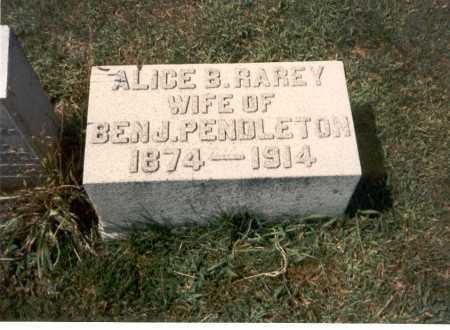 PENDLETON, ALICE B. - Franklin County, Ohio | ALICE B. PENDLETON - Ohio Gravestone Photos