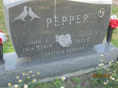 PEPPER, JOHN DONALD - Franklin County, Ohio | JOHN DONALD PEPPER - Ohio Gravestone Photos