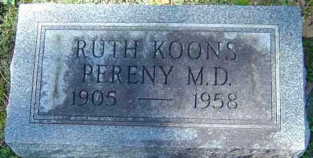 PERENY, RUTH - Franklin County, Ohio   RUTH PERENY - Ohio Gravestone Photos