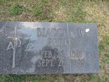 PERNA, BLAGGIO W. - Franklin County, Ohio | BLAGGIO W. PERNA - Ohio Gravestone Photos