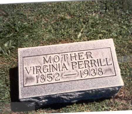 SMITH PERRILL, VIRGINIA - Franklin County, Ohio | VIRGINIA SMITH PERRILL - Ohio Gravestone Photos