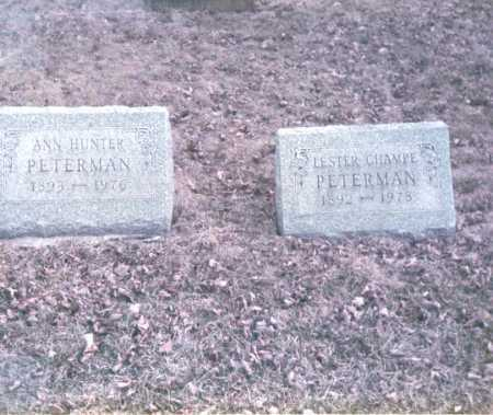 HUNTER PETERMAN, ANN - Franklin County, Ohio | ANN HUNTER PETERMAN - Ohio Gravestone Photos