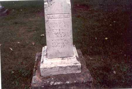 PETERS, FRANCIS W. - Franklin County, Ohio | FRANCIS W. PETERS - Ohio Gravestone Photos