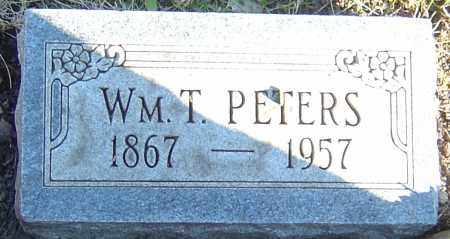 PETERS, WILLIAM T - Franklin County, Ohio | WILLIAM T PETERS - Ohio Gravestone Photos