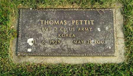 PETTIT, THOMAS - Franklin County, Ohio | THOMAS PETTIT - Ohio Gravestone Photos
