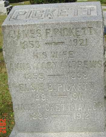 PICKETT, JAMES FRANKLIN - Franklin County, Ohio | JAMES FRANKLIN PICKETT - Ohio Gravestone Photos
