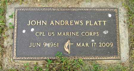 PLATT, JOHN ANDREWS - Franklin County, Ohio | JOHN ANDREWS PLATT - Ohio Gravestone Photos