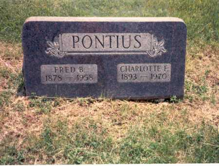 PONTIUS, CHARLOTTE F. - Franklin County, Ohio   CHARLOTTE F. PONTIUS - Ohio Gravestone Photos